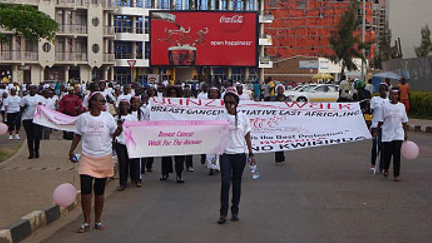 BCIEA ULINZI 2011, Breast Cancer Awareness walk where over 300 participants attended in June 12, 2011.