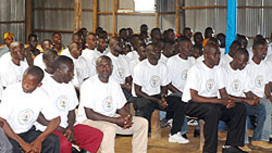 Ex- combatants during reintegration course at Mutobo. The New Times / File.