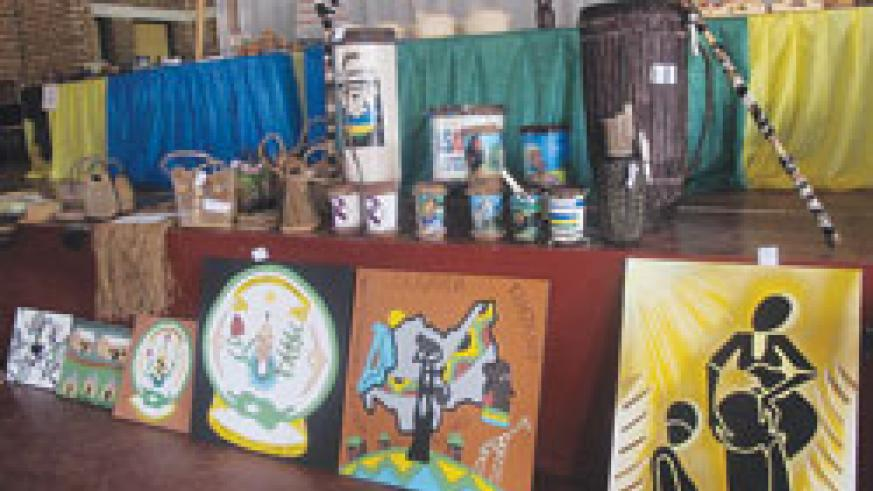 Handcraft products on display during provincial level competitions in Huye.The New Times / File