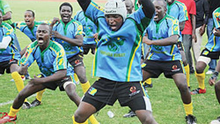 Captain Benjamin Makombe leading the team in a local Haka version last year. He will be at the forefront of the action.