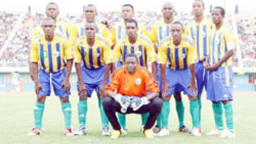 The Amavubi team that started the 2012 Nations Cup qualifier against Cote d'Ivoire in September in Kigali. The New Times / File.