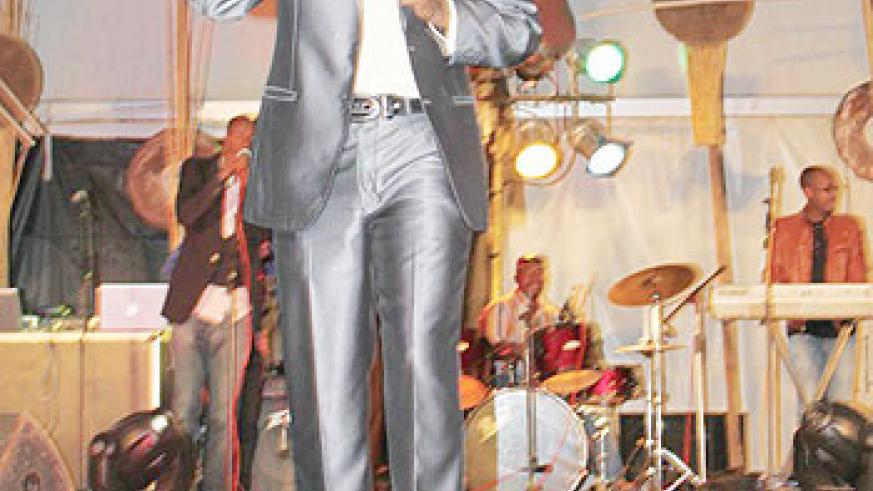 Dominic Nic performs during the Salax Awards 2010.The New Times / Courtesy photo.