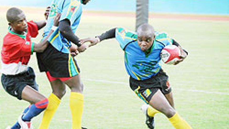Silverbacks' Vincent Kamali side-steps a Burundian opponent during last year's CAR 15s final. He is one of Rwanda's key players. The New Times/File.