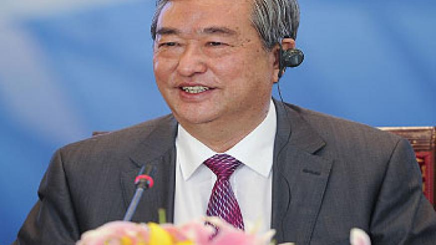 President of Xinhua News Agency Li Congjun speaks during the World Media Summit Presidium Meeting in Beijing, capital of China, Sept. 27, 2011. Leading figures from the world's most renowned media organizations attended the meeting in Beijing Tuesday.   P