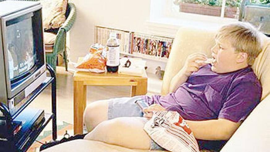 Obesity is linked to watching too much TV.  Net Photo
