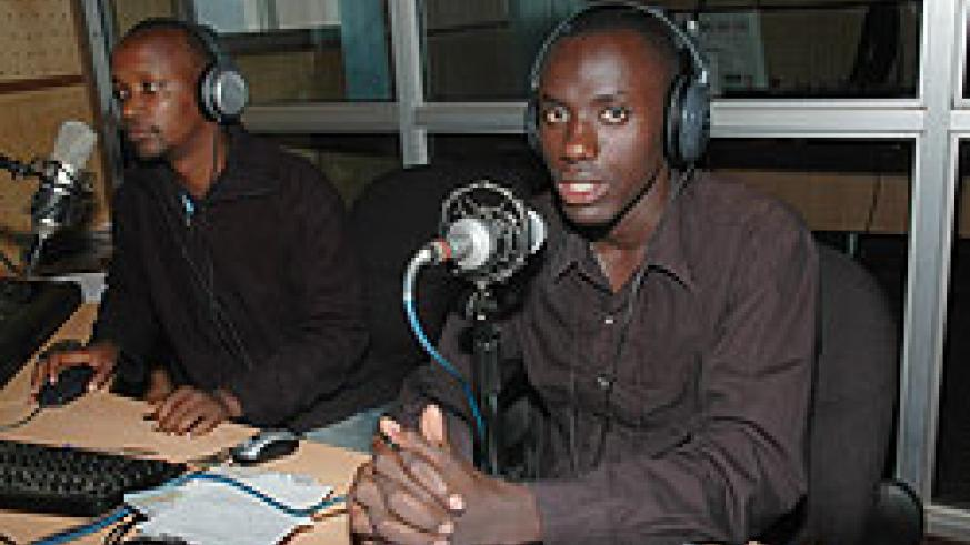 Journalists in studio. The media fraternity yesterday took time off to mark the Africa Media Day. The New Times/ File.