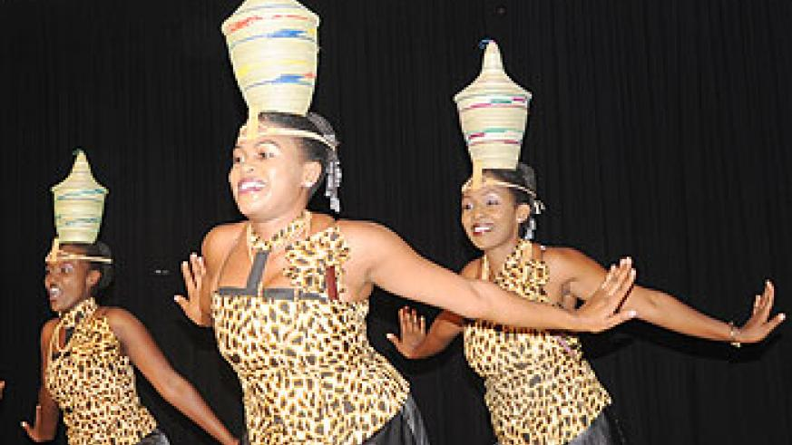 Rwandan traditional female dancers take to the stage. The New Times / File.