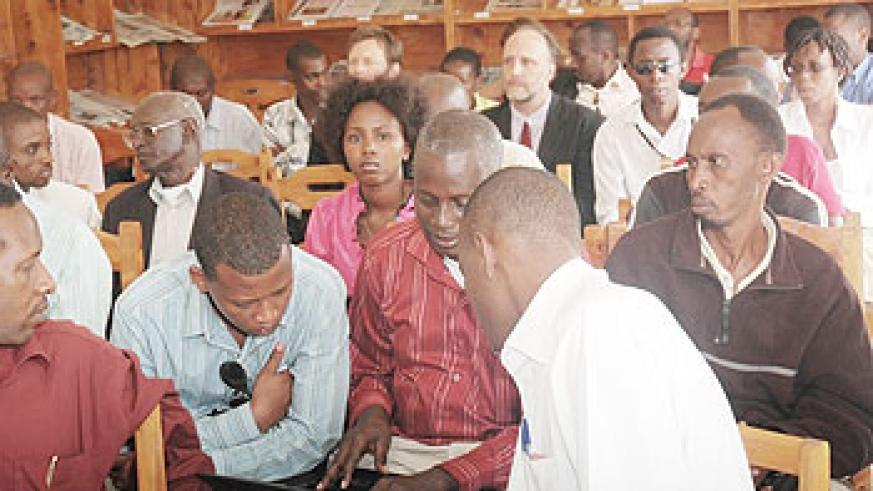 Journalists during a past meeting in Kigali. The New Times / File.