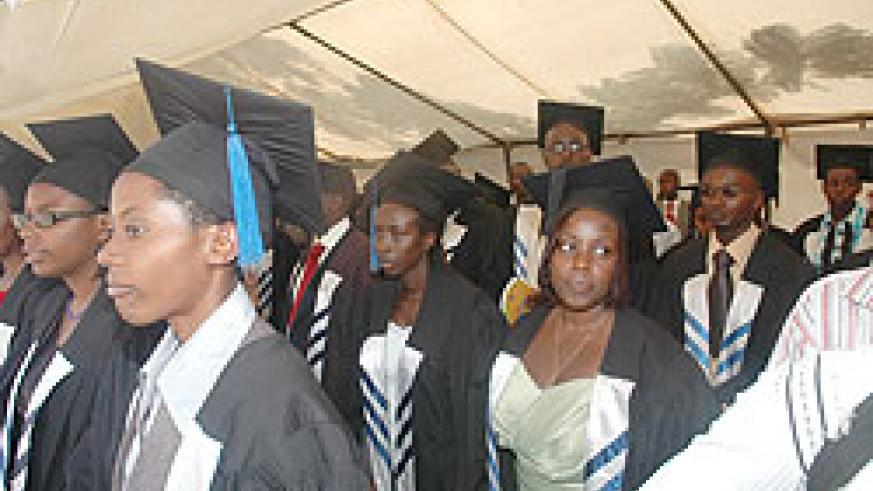 KHI students during a past graduation ceremony: The institution is this year's recipient of the Le Matinal Educational Excellence Award. the New Times / S. Nkurunziza