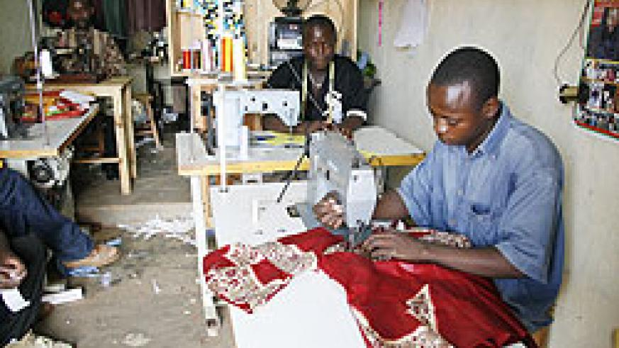 SMEs like this form the largest segment of the country's economy according to the Minister of Trade François Kanimba.