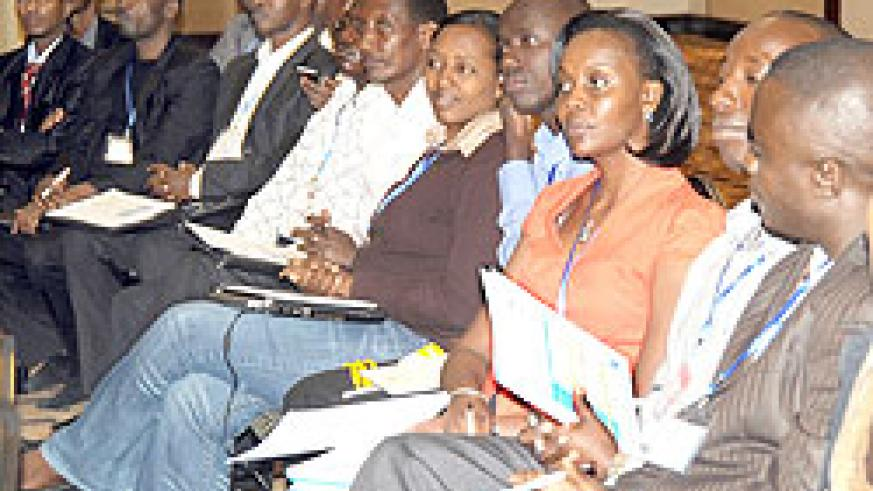 A cross-section of journalists during the third National Dialogue Conference on media that ended yesterday. The New Times / J. Mbanda.