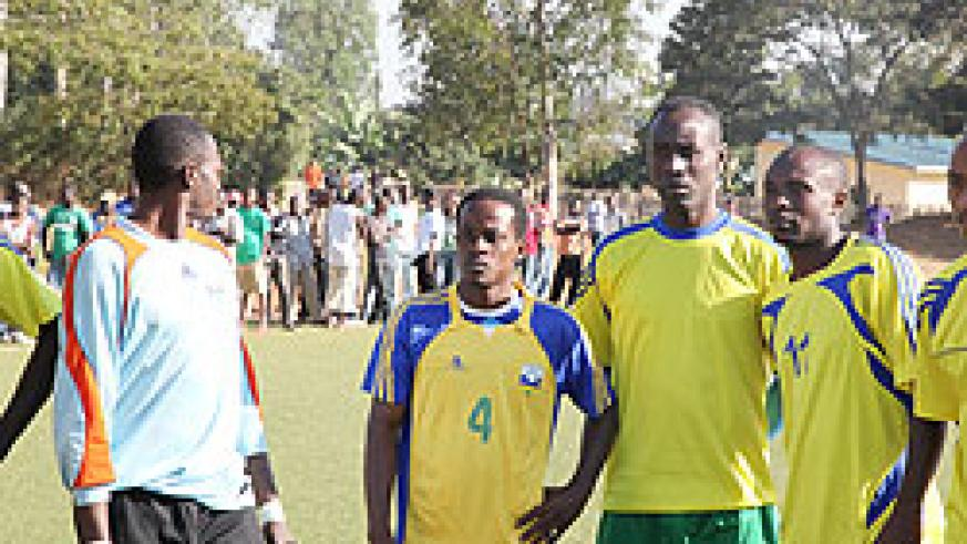 Amavubi players in a training session. The New Times / File