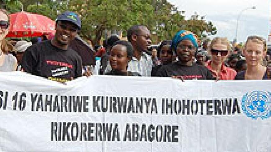 16 Days of Activism aimed at advocacy and sensitization on GBV. The New Times / File.