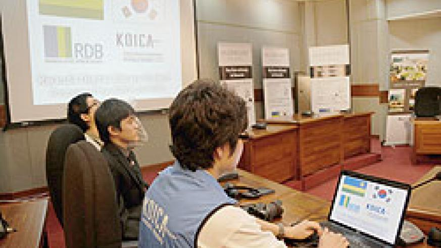 KOICA launch of Rwanda Digital Library Project. South Korean partnership with Rwanda has focused on ICT. The New Times / File