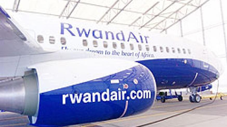 New RwandAir's Boeing 737-800. Rwandair has made it easier for Rwandan companies to export products abroad. The New Times/File.