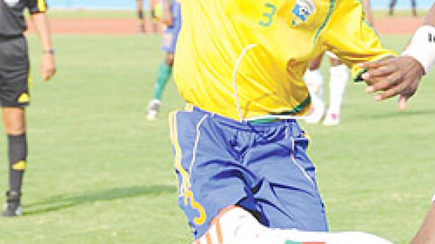 Amavubi's right back Albert Ngabo played a key role in Amavubi's comeback yesterday.  The New Times/File Photo