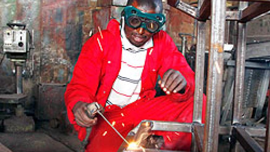 Vocational school graduates have recieved equipment to start off. The New Times / File.