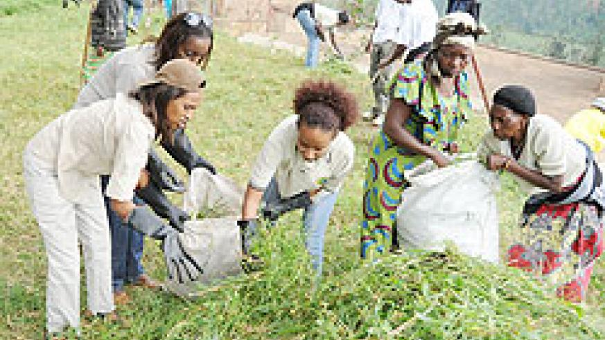 Women participating in Umuganda. The UN has hailed Rwandan home-grown initiatives for promoting the volunteerism spirit. The New Times / File.