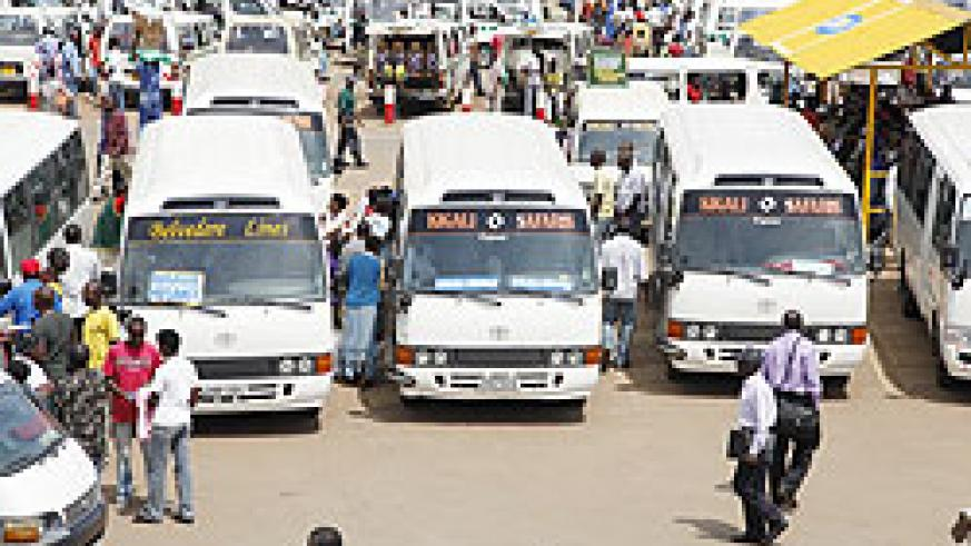 The parking slot of Rubavu bound omni-buses. The companies operating in Rubavu went on strike over poor infrastructure.