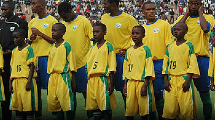 Amavubi players during a past match. The team has improved its fortunes since the appointment of Serbian tactician Milutin Micho. The New Times / File