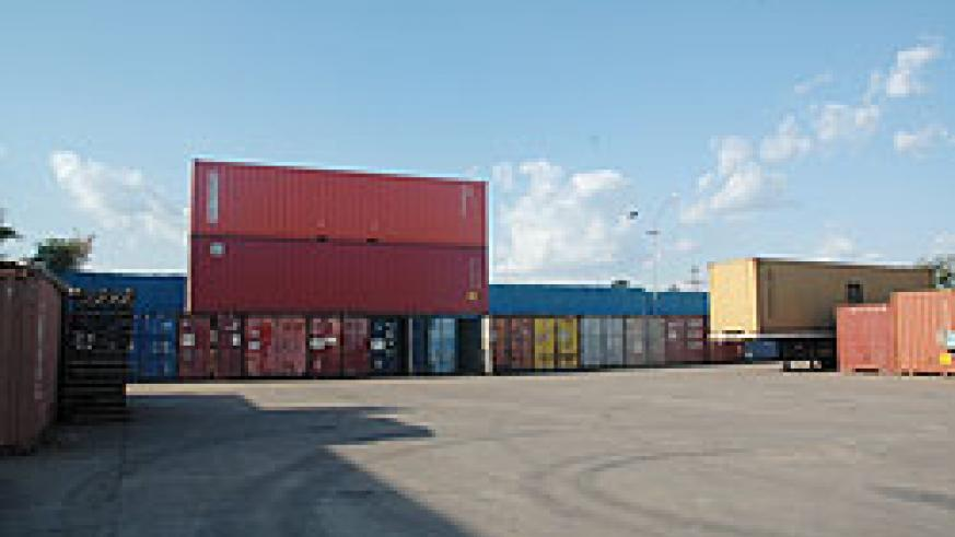 Cargo containers at Magerwa. Increased importation of capital goods has been key to the country's swelling trade deficit (File photo).