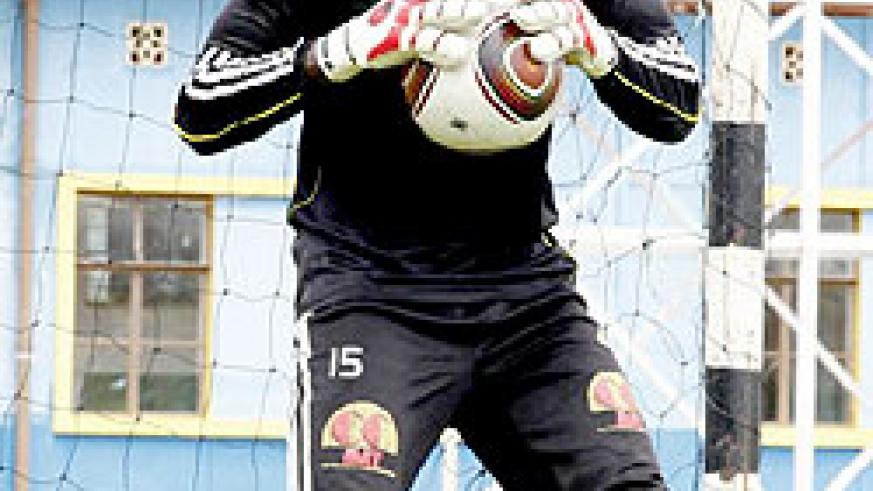 Amavubi goalkeeper Jean Claude Ndoli will be kept on his toes this afternoon. The New Times/T. Kisambira.