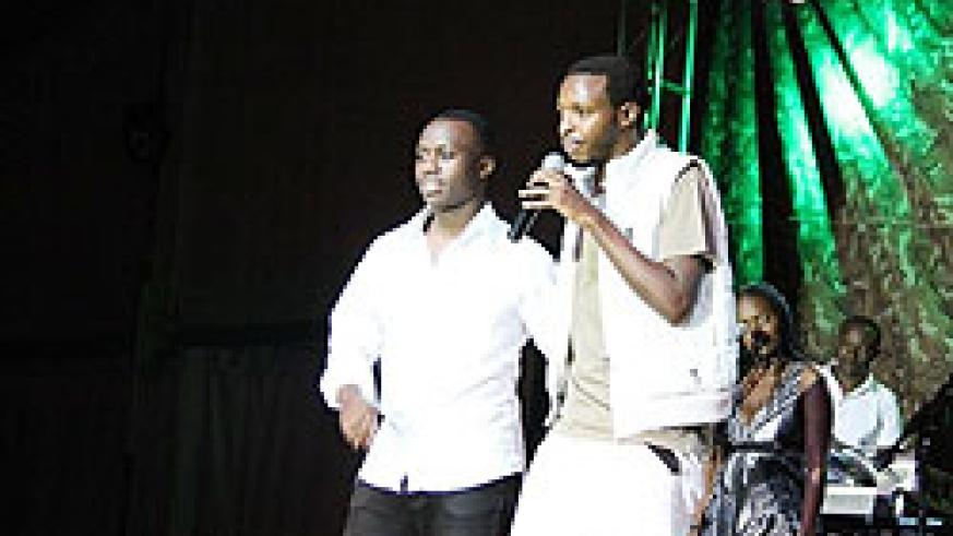King James (Left) and Kamichi (Right) during the former's album launch last weekend
