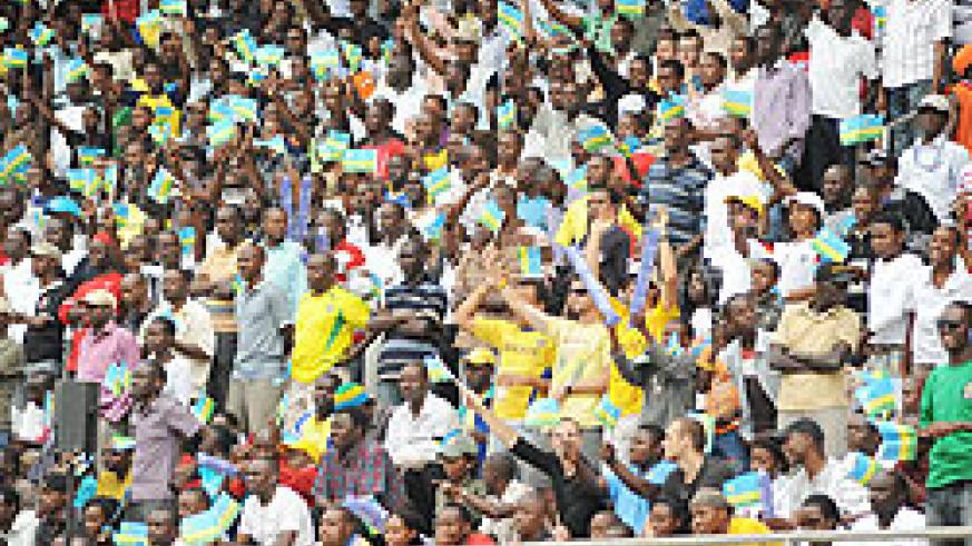 Local soccer fans at the Amahoro National Stadium during a past match. Plans are under way to renovate the stadium and put up  a new one.The NewTimes/ File.