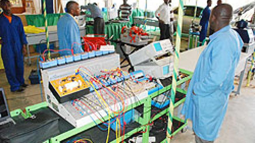 Some of the equipment on display at the ongoing TVET expo in Gikondo. The New Times / Courtesy.