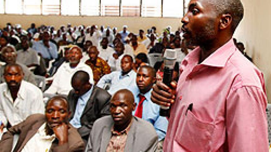 A cross section of teachers during a past annual general meeting of Umwalimu SACCO (Photo T.Kisambira)