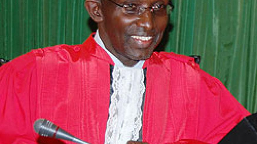 The incoming Cheif Justice Prof. Sam Rugege who was approved by the Senate yesterday.