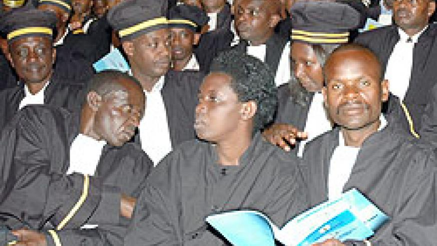 Judges at a meeting; The legal fraternity is seeking means to encourage public interest litigation.