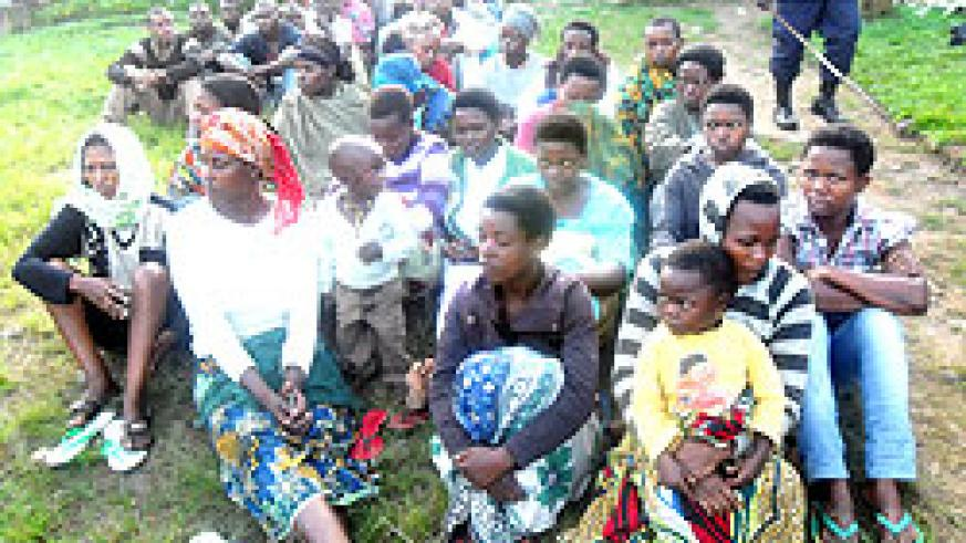 Some of the street children  placed in a rehab centre in Karongi. The New Times / Sam Nkurunziza.