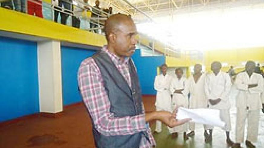 Karate President Theogne Uwayo urging players to continue working hard in order to get a shot in the national team.The New Times /D.Rurangayire.