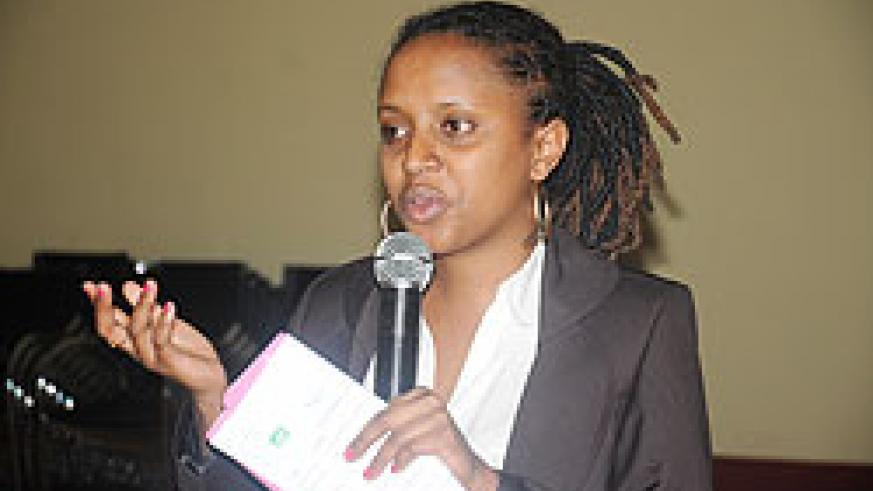 Chantal Umuhoza, the Project Coordinator of ARBEF.