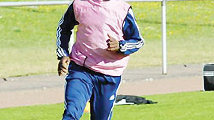 Jean Marie Rusingizandekwe will play for the visiting professional XI. The New Times / File.