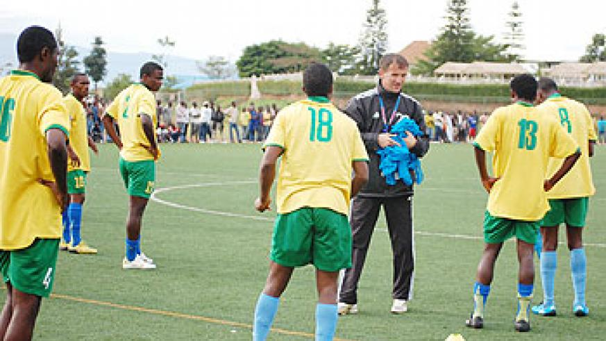 Micho has been with Amavubi for just two months but is happy with the progress his players have made. The New Times / File.