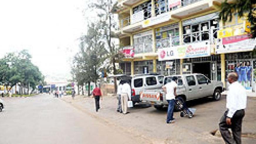 Most of the streets in Kigali's CBD were deserted yesterday with only a few shops open. The New Times/ John Mbanda.