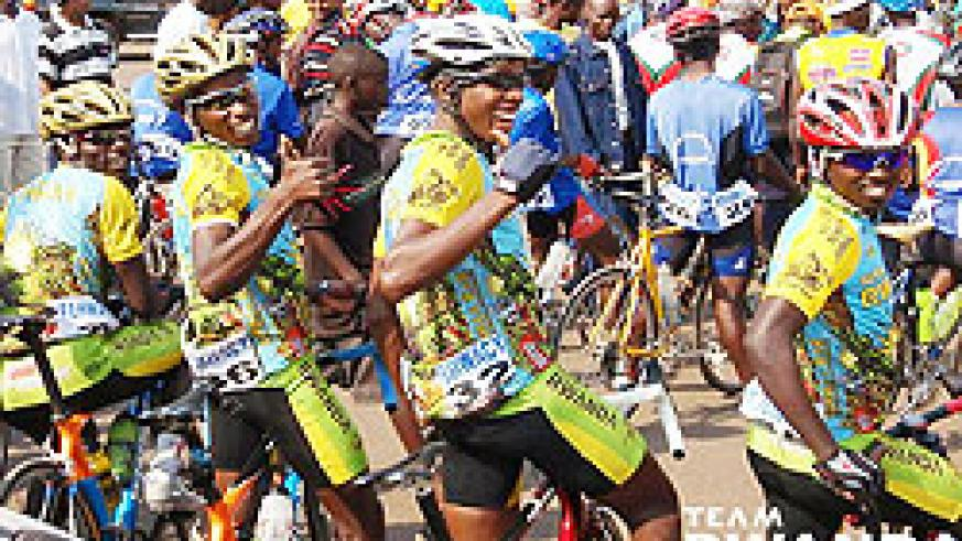 Team Rwanda cyclists participating in a past event. The NewTimes File.