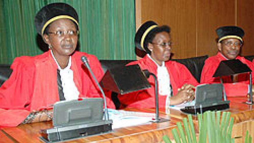Supreme Court judges have a backlog of 5000 cases to dispose of. The New Times / File.
