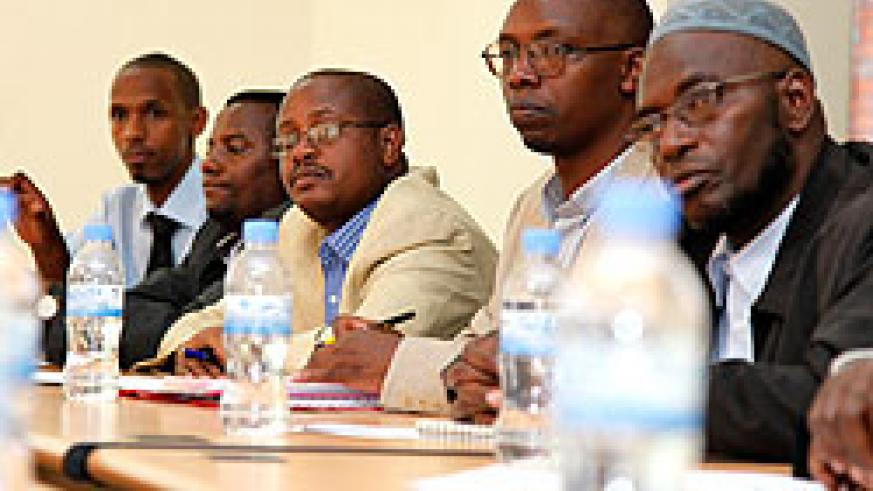 Some members of the Diaspora during a meeting with  CNLG officials yesterday.