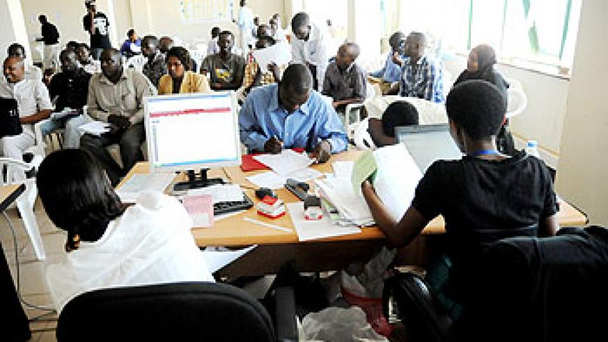 Business registration at RDB.The institution has put in place reforms that have eased of doing business. The NewTimes / File.