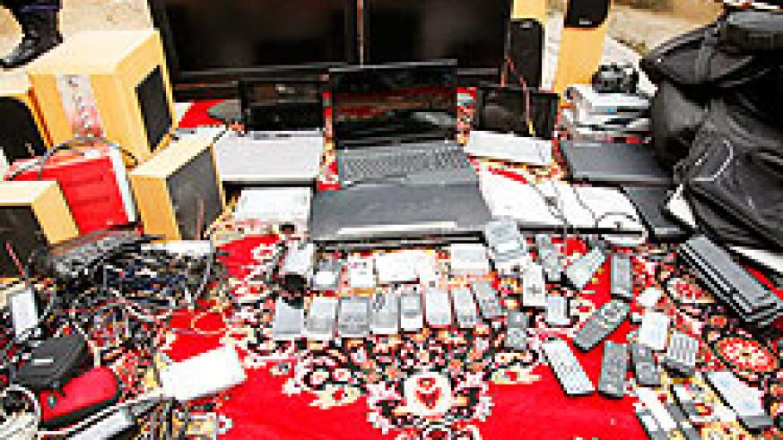 Theft of electronic gadgets,mainly through deception was highly recorded in 2011. The New Times / File