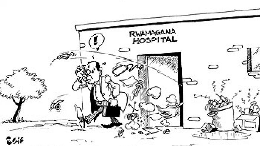 RWAMAGANA-The Minister of Health, Dr. Agnes Binagwaho, has ordered the sacking of Rwamagana Hospital Director, Dr. Jean Claude Ndagijimana, over poor sanitation at the health facility