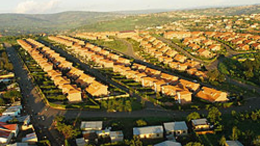 An aerial view of an estate developed by the former CSR, now part of the new RSSB . The pensions fund has announced plans to invest in low-end housing. The New Times / File.