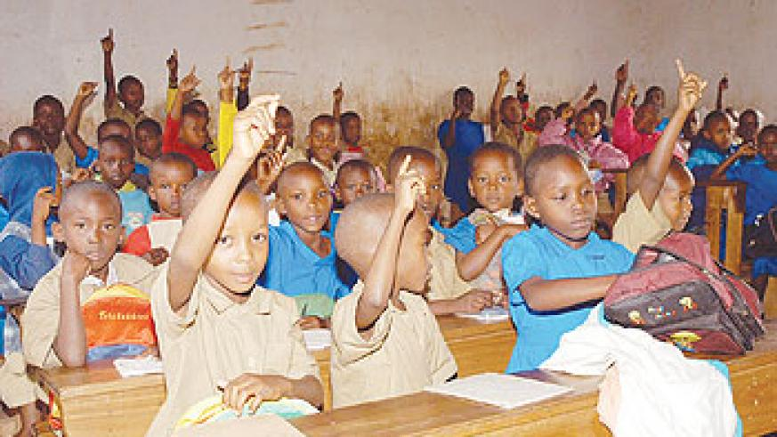 Pupils of Ecole Primaire Kacyiru in class. Rwanda Education Commons has helped improve learning. The NewTimes / File.