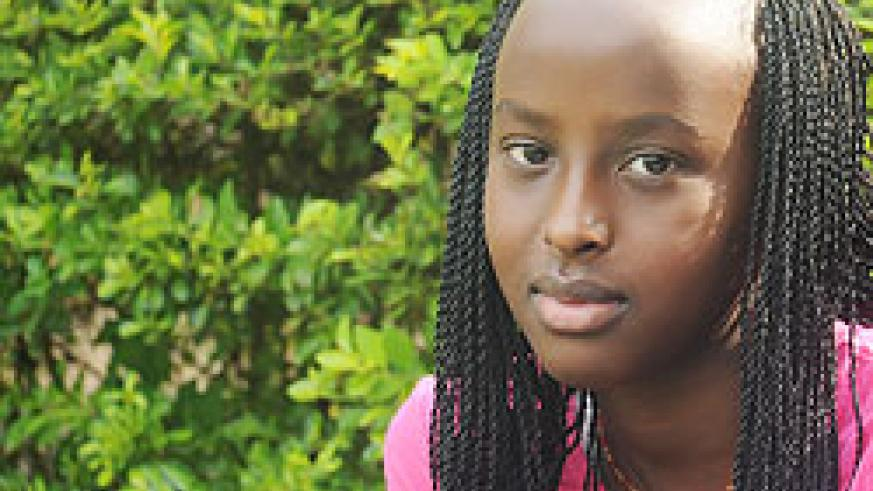 Nancy Mutoni of Kigali Parents who emerged as the best students in last year's Primary Leaving examinations.