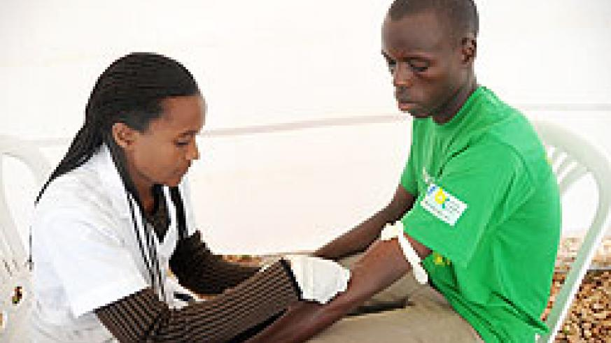 Testing for HIV. There is need to sensitise youth to know their status. The NewTimes / File.