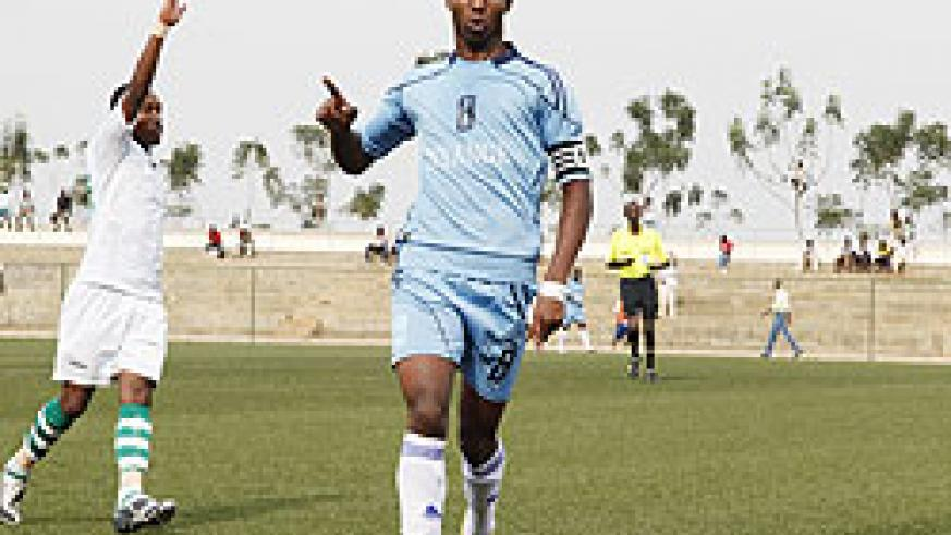 Isonga captain Emery Bayisenge scored for the youthful side on Wednesday. The New Times / T. Kisambira