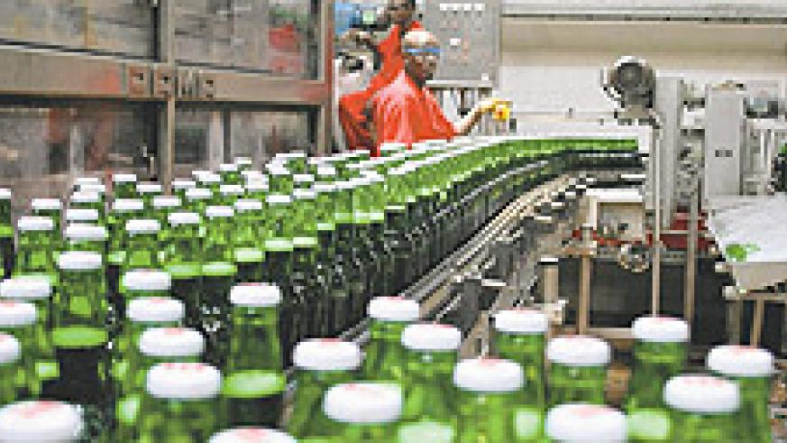 Brasserie Des Mille Collines's Skol production plant. The New Times / File